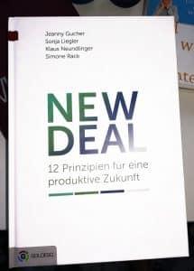 NEW DEAL: 12 Prinzipien für eine produktive Zukunft Geschäftsführer, Buchtipps, Lesetipps, New Work, Start-up-Unternehmen, Holokratie, Unternehmen, Bullshit-Jobs, Führungskräfte, Produktivität, Zukunft, Führungsstile, Verhaltensökonomie